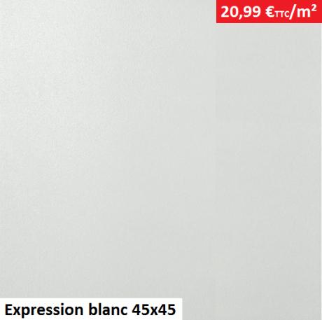 Expression blanc 45x45