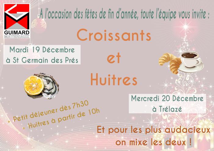 Croissants et huitres