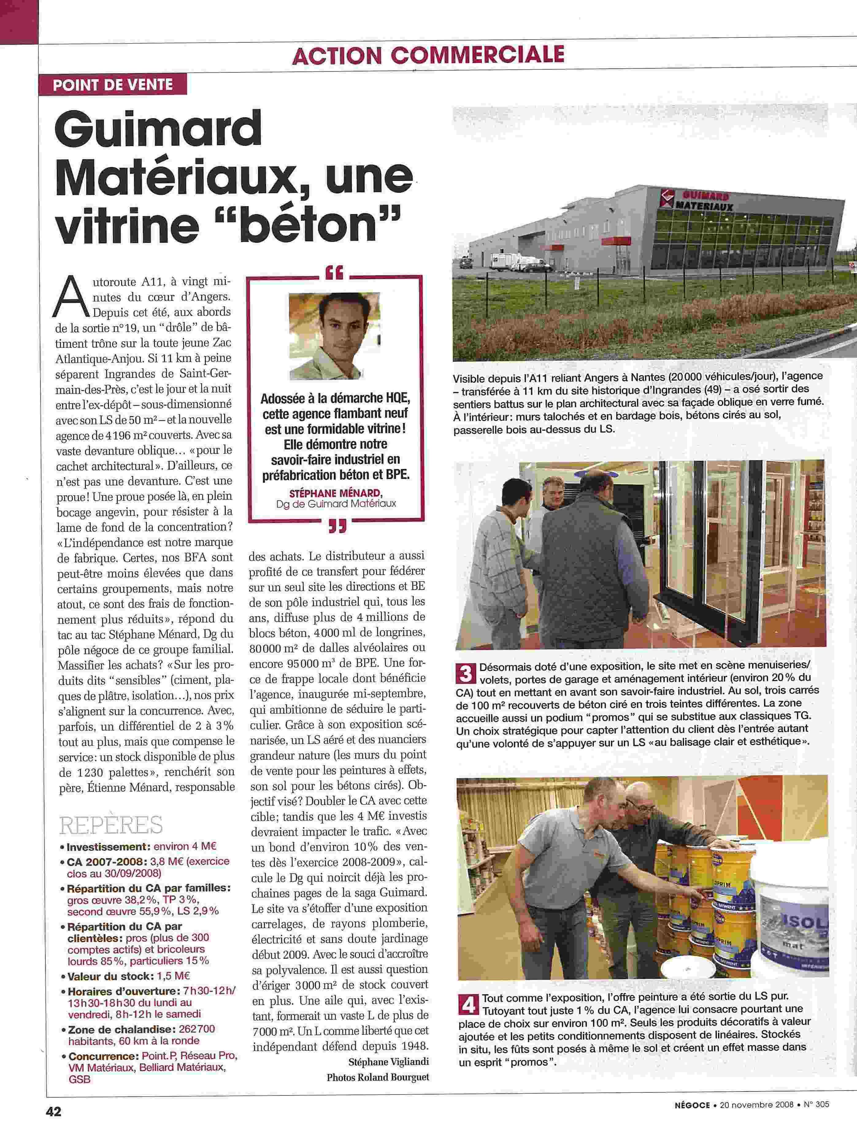 NEGOCE NOVEMBRE 2008 PAGE 1